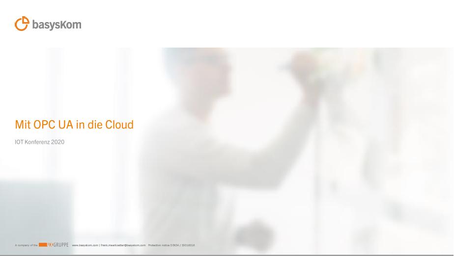 Conferences 4 basysKom, HMI Dienstleistung, Qt, Cloud, Azure